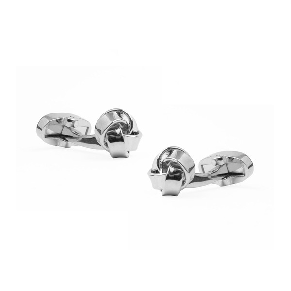 Loose Knots Silver Cufflinks