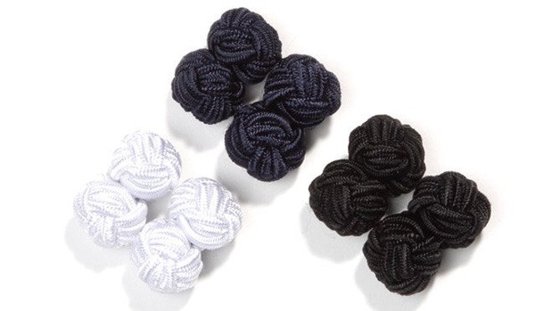 Silk Knots Navy Cufflinks