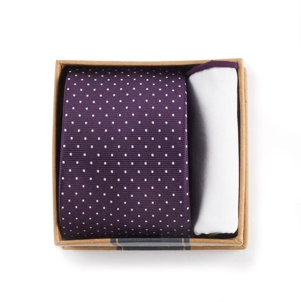 Eggplant Tie Box Gift Set