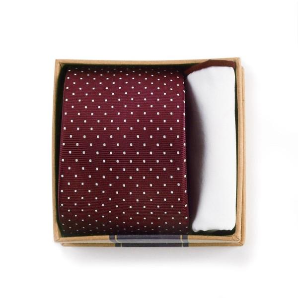 Burgundy Tie Box Gift Set