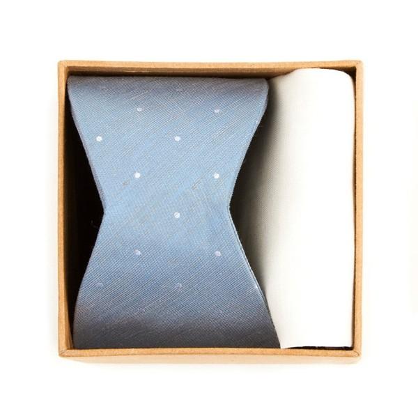 Bulletin Dot Bow Tie Box Slate Blue Gift Set