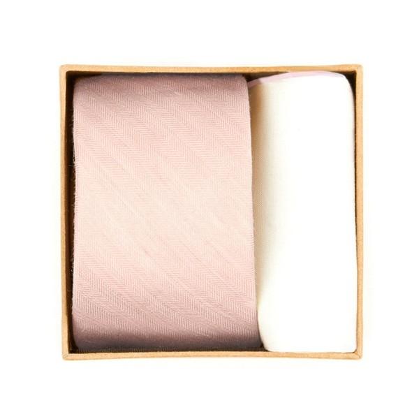 Linen Row Tie Box Blush Pink Gift Set