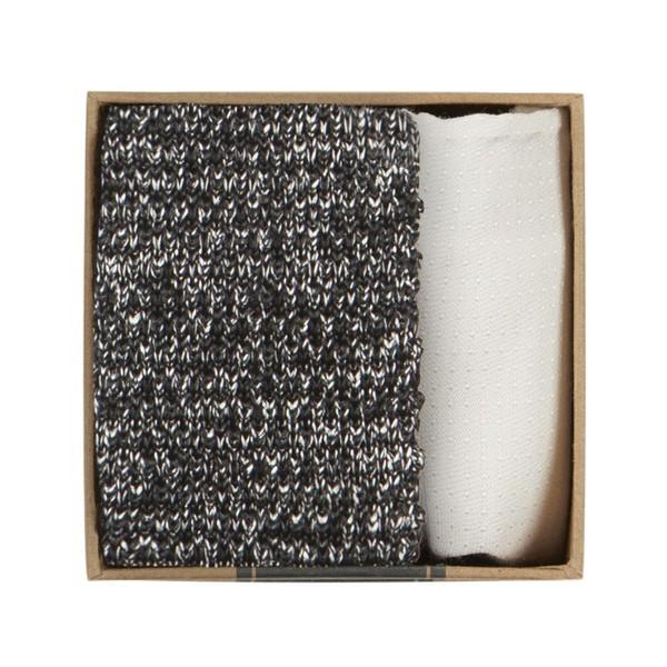 Scramble Knit Tie Box Silver Gift Set