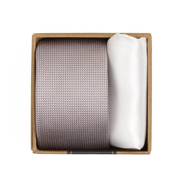 Union Solid Tie Box Mauve Stone Gift Set