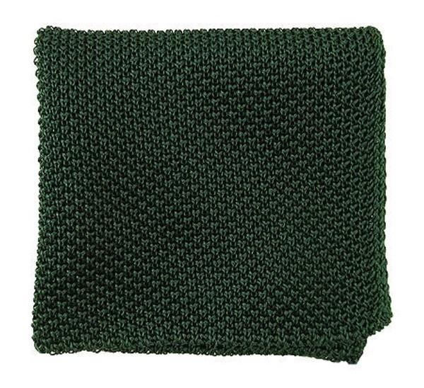Solid Knit Hunter Green Pocket Square