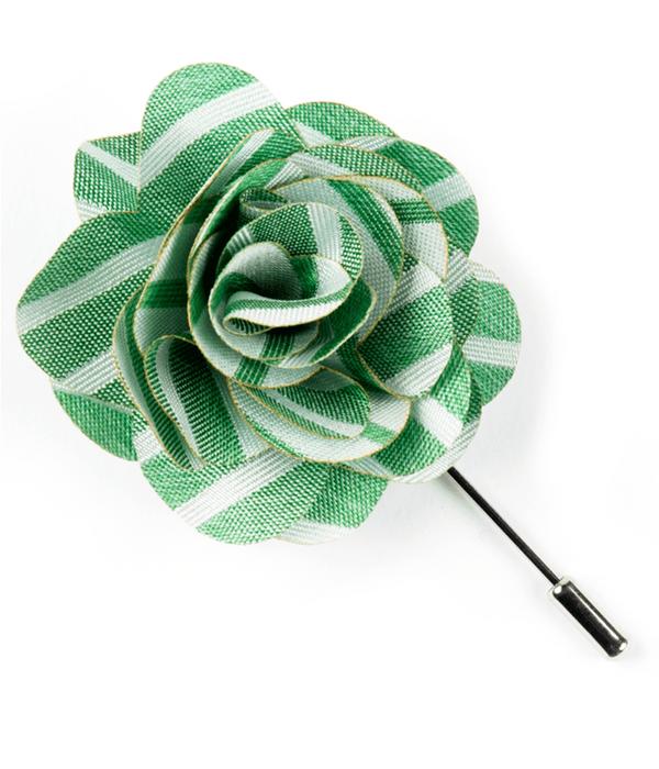 Unity Stripe Apple Green Lapel Flower