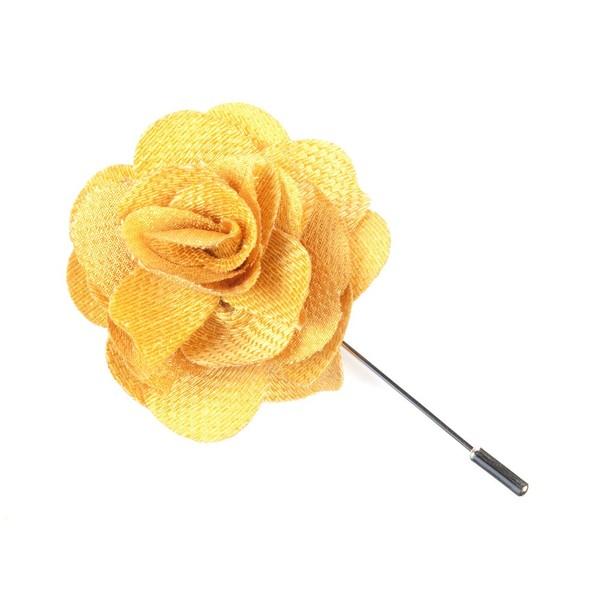 Jet Set Solid Yellow Gold Lapel Flower