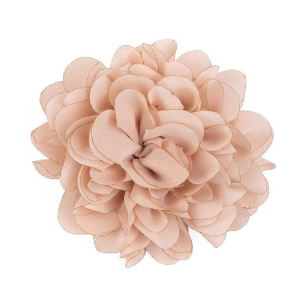 Solid Silk Xl Blush Pink Lapel Flower