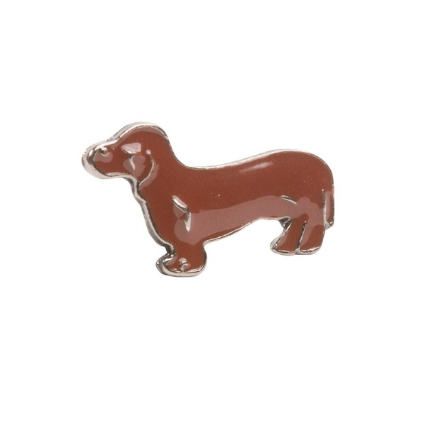 Dachshund Dog Brown Lapel Pin