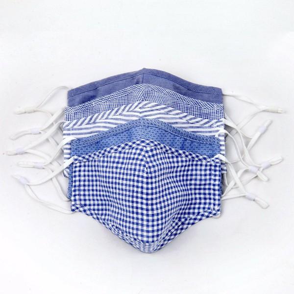 5 Pack Cotton Royal Blue Masks