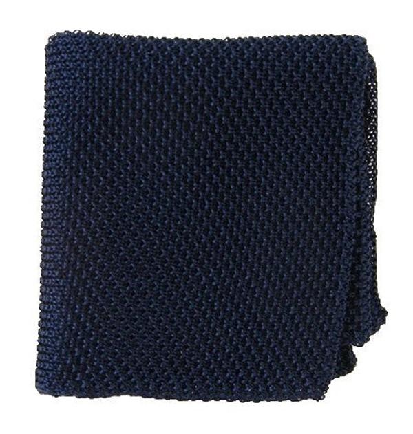 Solid Knit Midnight Navy Pocket Square