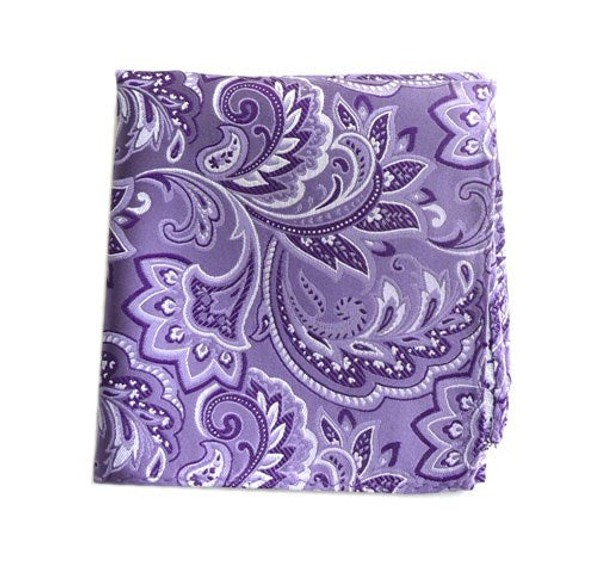 Organic Paisley Lavender Pocket Square
