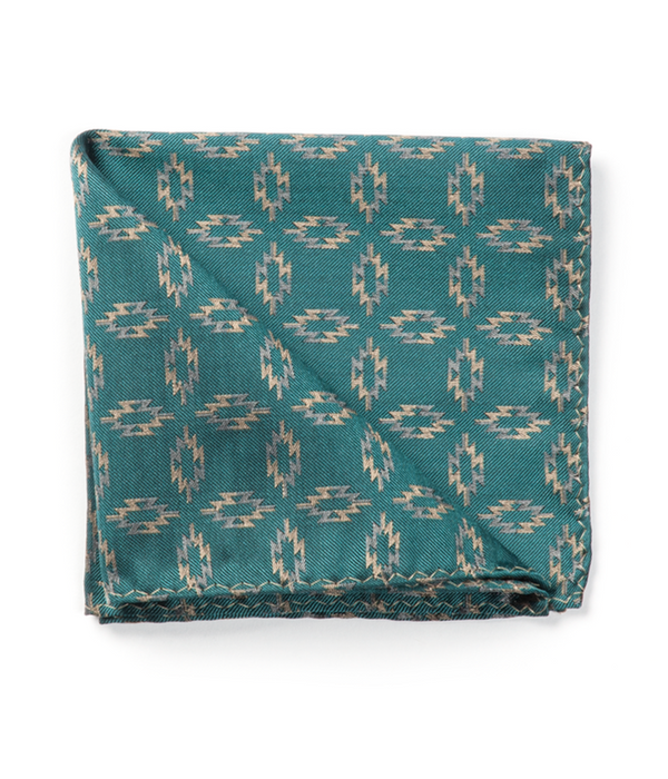 Teepee Tapestry By Dwyane Wade Navy Pocket Square