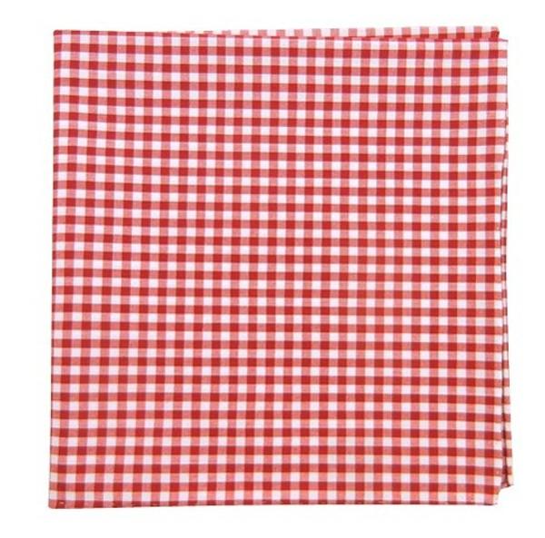 Novel Gingham Red Pocket Square