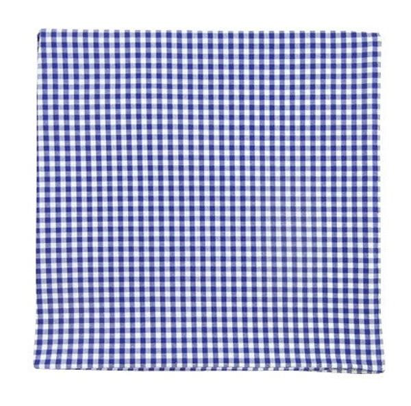Petite Gingham Royal Blue Pocket Square