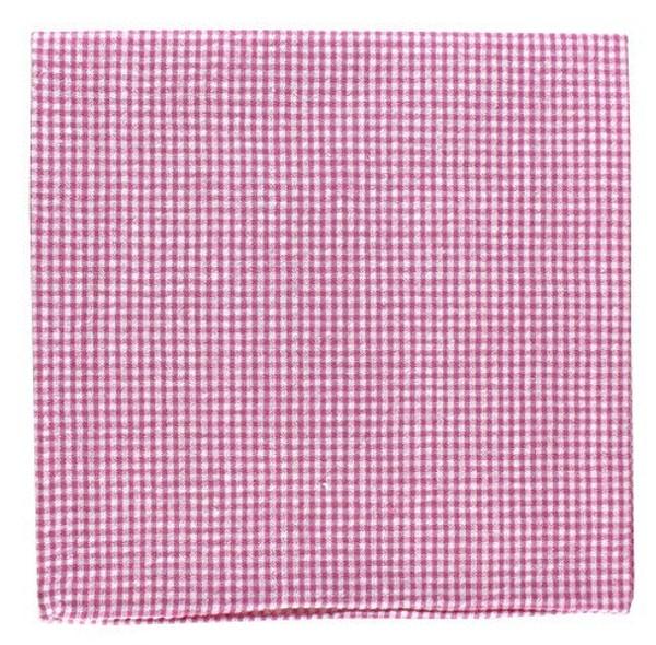 New Seersucker Gingham Pink Pocket Square