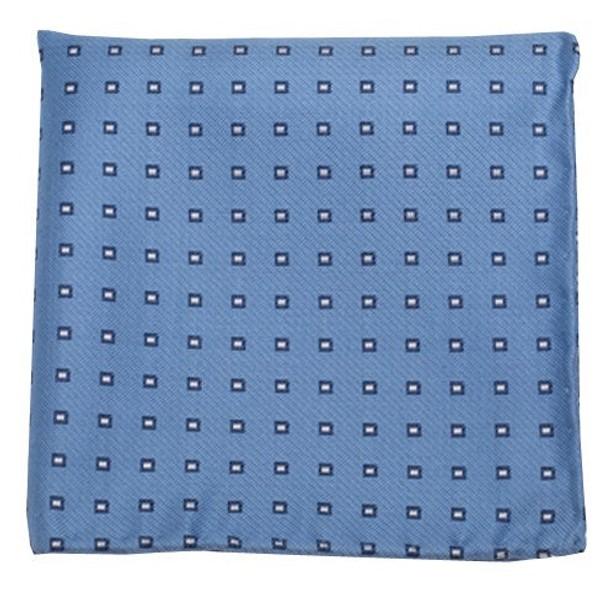 Essex Check Light Blue Pocket Square