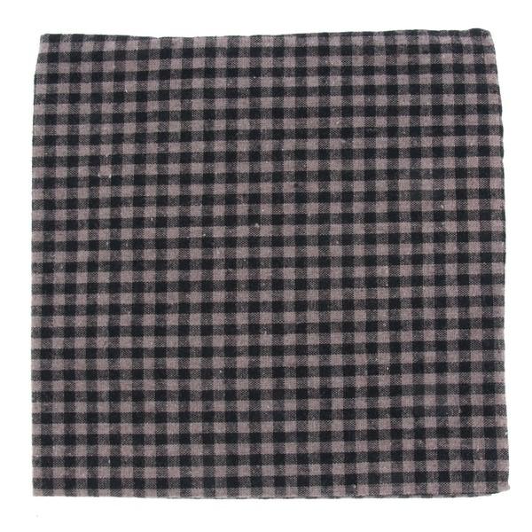 Metric Plaid Charcoal Pocket Square