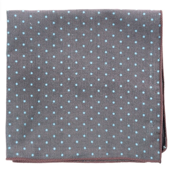 Corduroy Dots Brown Pocket Square