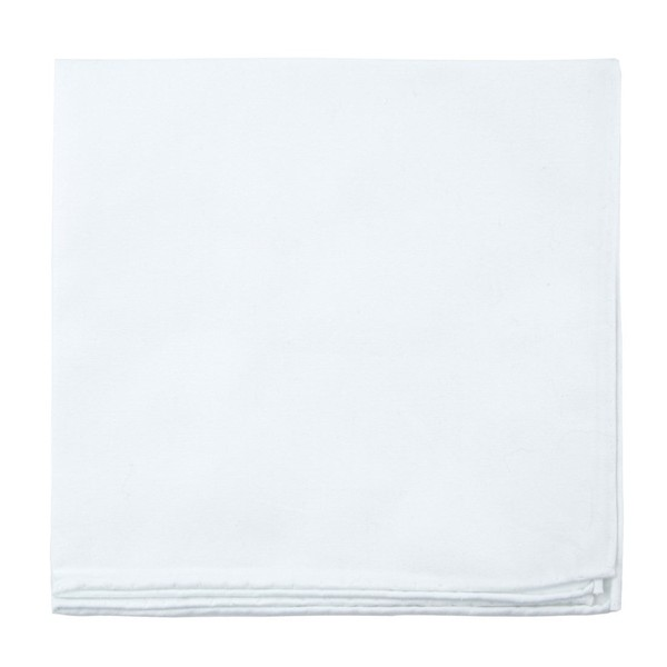 Craft Cotton Solid White Pocket Square