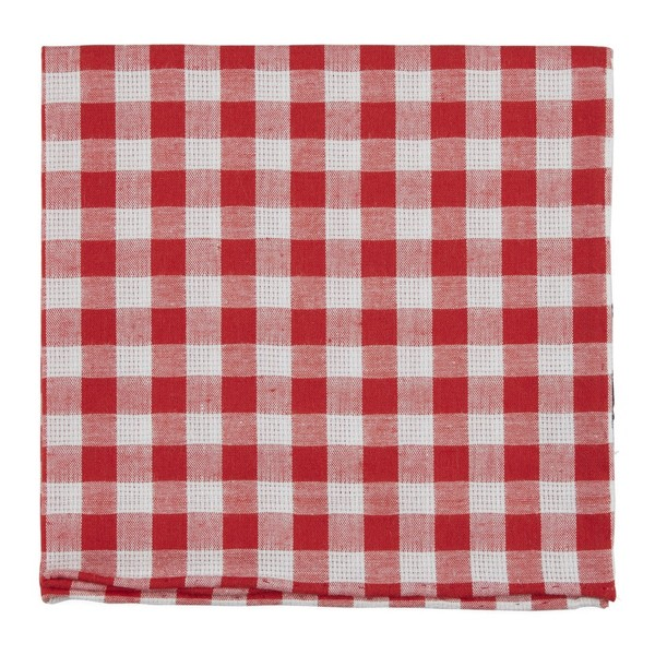 Trellis Plaid Red Pocket Square