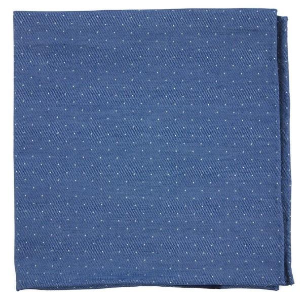 Cumberland Dots Classic Blue Pocket Square