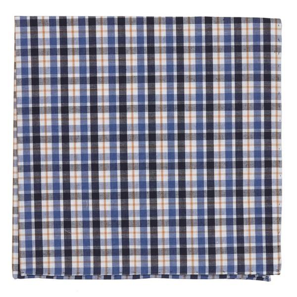 Kenmore Plaid Blue Pocket Square