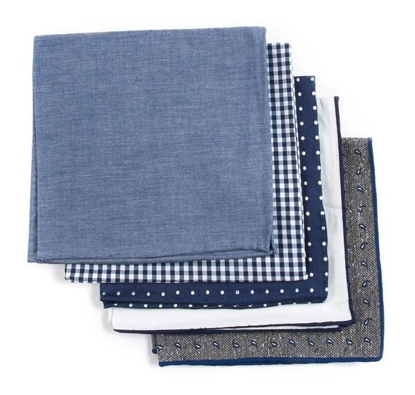 Basic Navy Pack Pocket Square