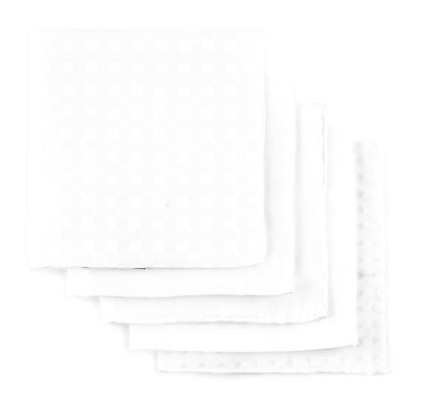 Basic White Pack Pocket Square