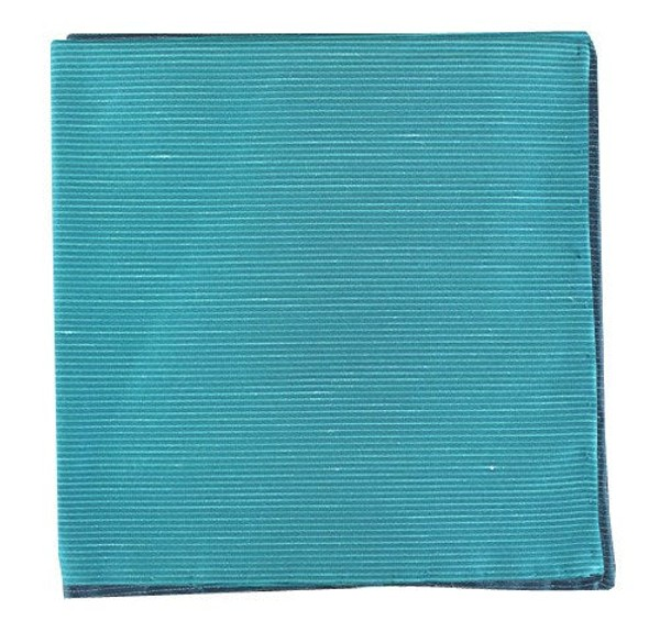 Fountain Solid Ocean Blue Pocket Square
