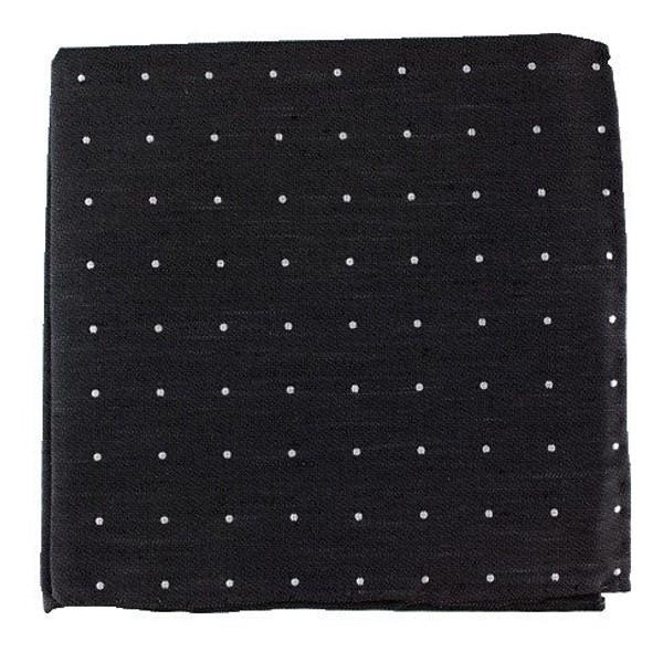 Bulletin Dot Black Pocket Square