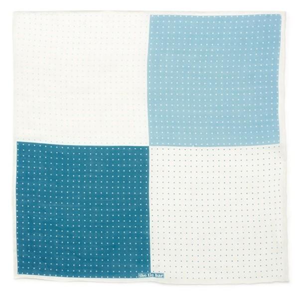 Revolution Dots Blue Pocket Square