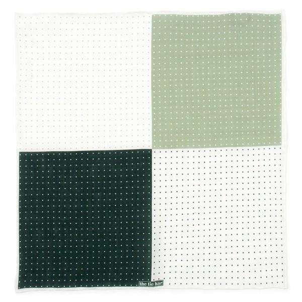 Revolution Dots Hunter Green Pocket Square