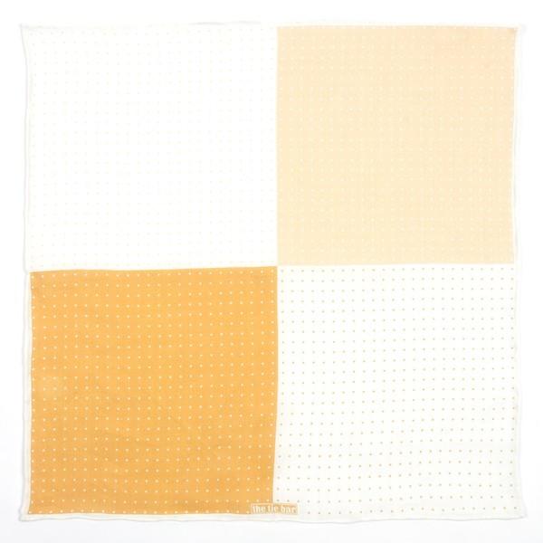 Revolution Dots Mustard Pocket Square