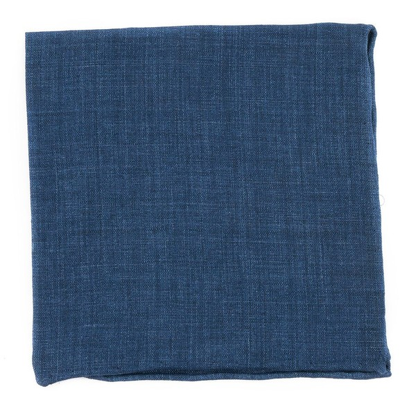 Freehand Solid Navy Pocket Square