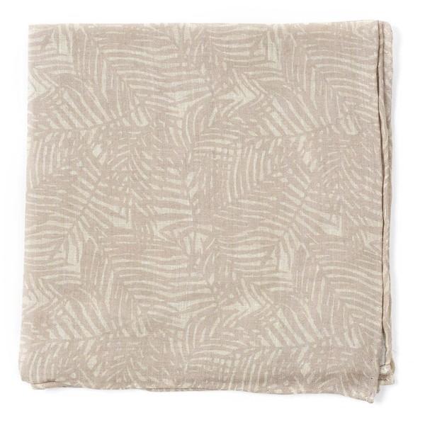 Palm Leaves Khaki Pocket Square