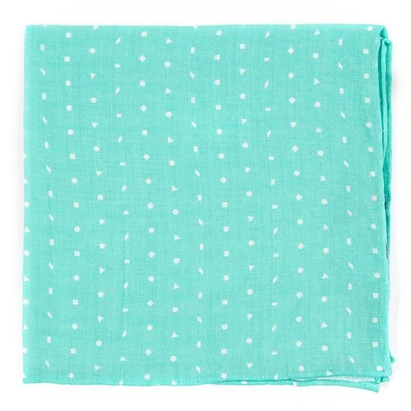Linen Confetti Mint Pocket Square