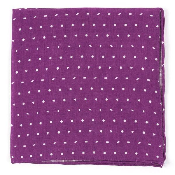 Linen Confetti Plum Pocket Square