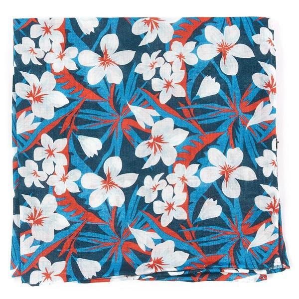 Tropic Of Linen Navy Pocket Square