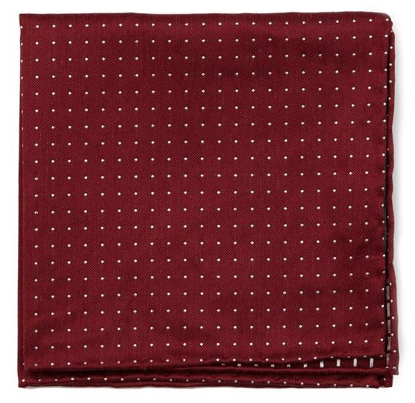Rivington Dots Burgundy Pocket Square