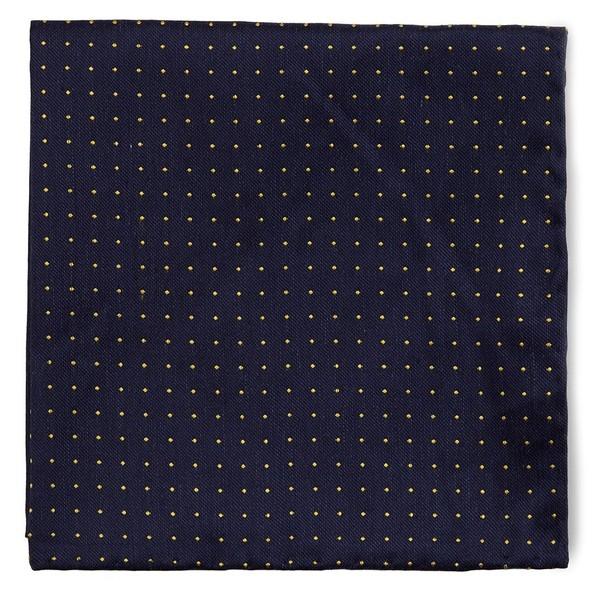 Rivington Dots Navy Pocket Square
