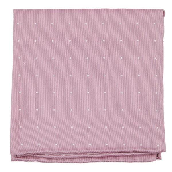 Bulletin Dot Pink Pocket Square