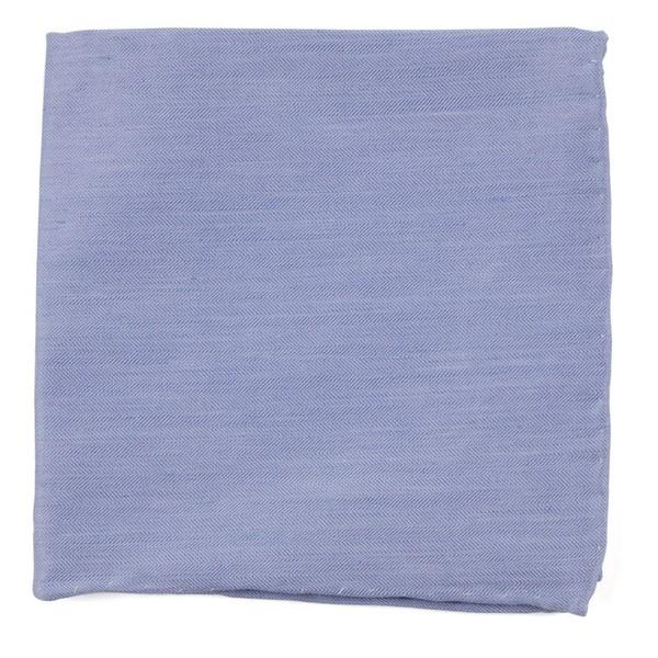 Linen Row Sky Blue Pocket Square