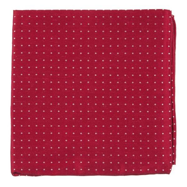 Rivington Dots Apple Red Pocket Square