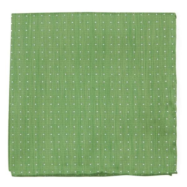 Rivington Dots Apple Green Pocket Square