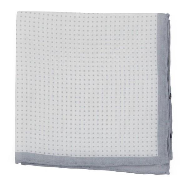 Domino Dots Silver Pocket Square
