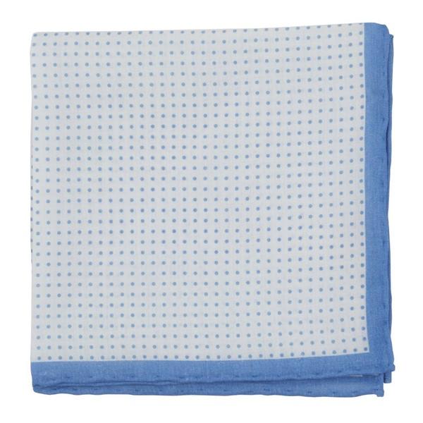 Domino Dots Light Blue Pocket Square