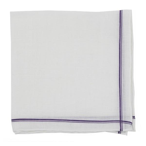 Binary Border Purple Pocket Square