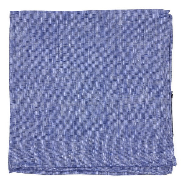 South End Solid Blue Pocket Square