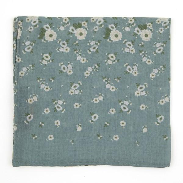 Meyer Flowers Sage Green Pocket Square